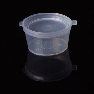 25ml (1oz) Sauce Cup with Lid Attached (1000pcs)