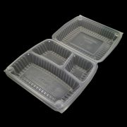 3 Compartment Translucent Hinged Container with Button Lock1