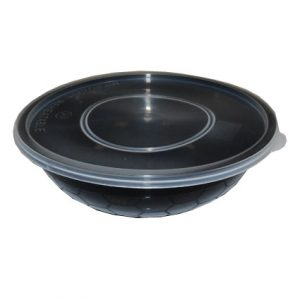 750cc Round Black Food Container (150sets)