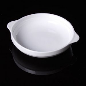 "Cameo Deep Round Dish with Handles (9.25"")"