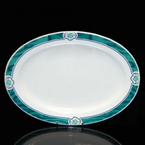 """Cameo Green Oval Plate (12"""")"""