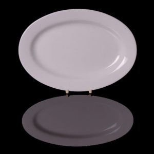 "Cameo Oval Rimmed Plate (16"")"