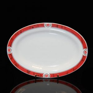 "Cameo Red Oval Plate (10.25"")"