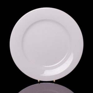 "Cameo Round Rimmed Plate (10.25"")"