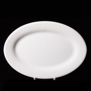 "Oval Rimmed Plate (13.75"") (2pcs) @ £3.38 each"