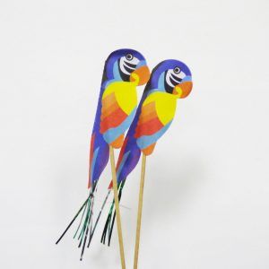 "Paper Parrot Drink Decoration (7"") (100pcs)"
