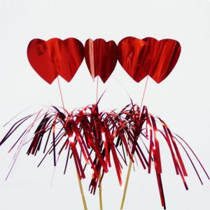 """Red Heart Drink Decoration (8.5"""") (100pcs)"""