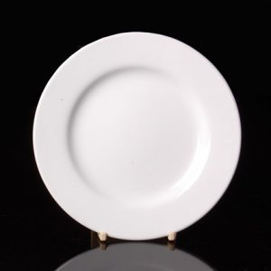 """Round Rimmed Plate (10.5"""") (16pcs) @ £1.00 each"""