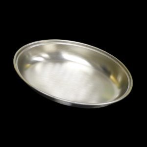 "10"" Stainless Steel Oval Serving Dish"