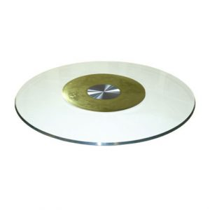 "31.5"" (80cm) Large Glass Turntable with Patterned Inner Ring"