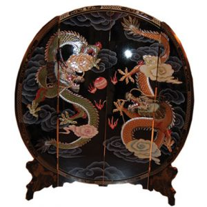 4 Panel Round Screen (Black, Dragon)