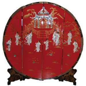 4 Panel Round Screen (Red, Women)
