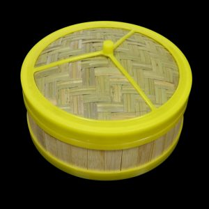 "Bamboo Steamer Set with Plastic Rim (7"")"