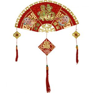 """3D Fan Shaped Good Fortune Hanging (35"""")"""