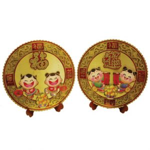 """3D Good Fortune Decoration with Stand (13.5"""") (Pair)"""