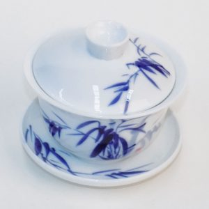 Gaiwan - Blue Bamboo Leaves (Med)