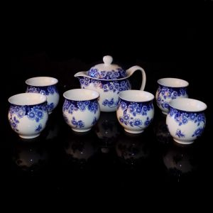 Mini Tea Set - Blue Flowers (Doublewall)