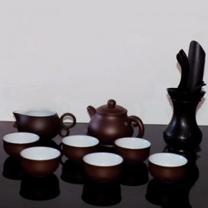 Mini Tea Set - Brown Clay Ceramic