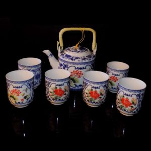 Mini Tea Set - Red Flowers