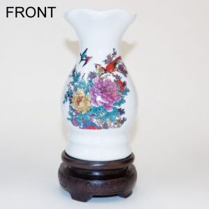 Mini White Vase (Flower and Birds)