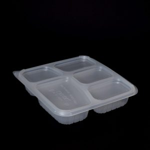 1000ml 5 Compartment Square Food Container (200sets)