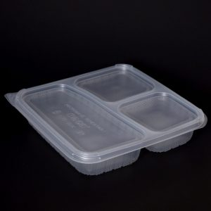 1035ml 3 Compartment Square Food Container (200sets)