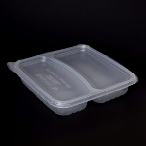 1100ml 2 Compartment Square Container (200sets)