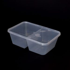 750cc Rectangular Food Container 2 Section (250sets)