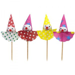 (BA01) 8cm Clown Party Picks