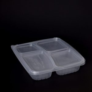 995ml 4 Compartment Square Container (200sets)