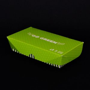 'Go Green' Paper Food Container - 640cc/20oz - (300pcs)