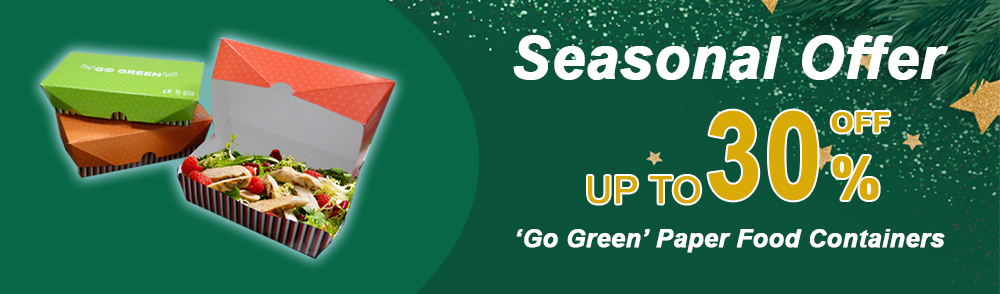 Reduced size go green seasonal offer banner