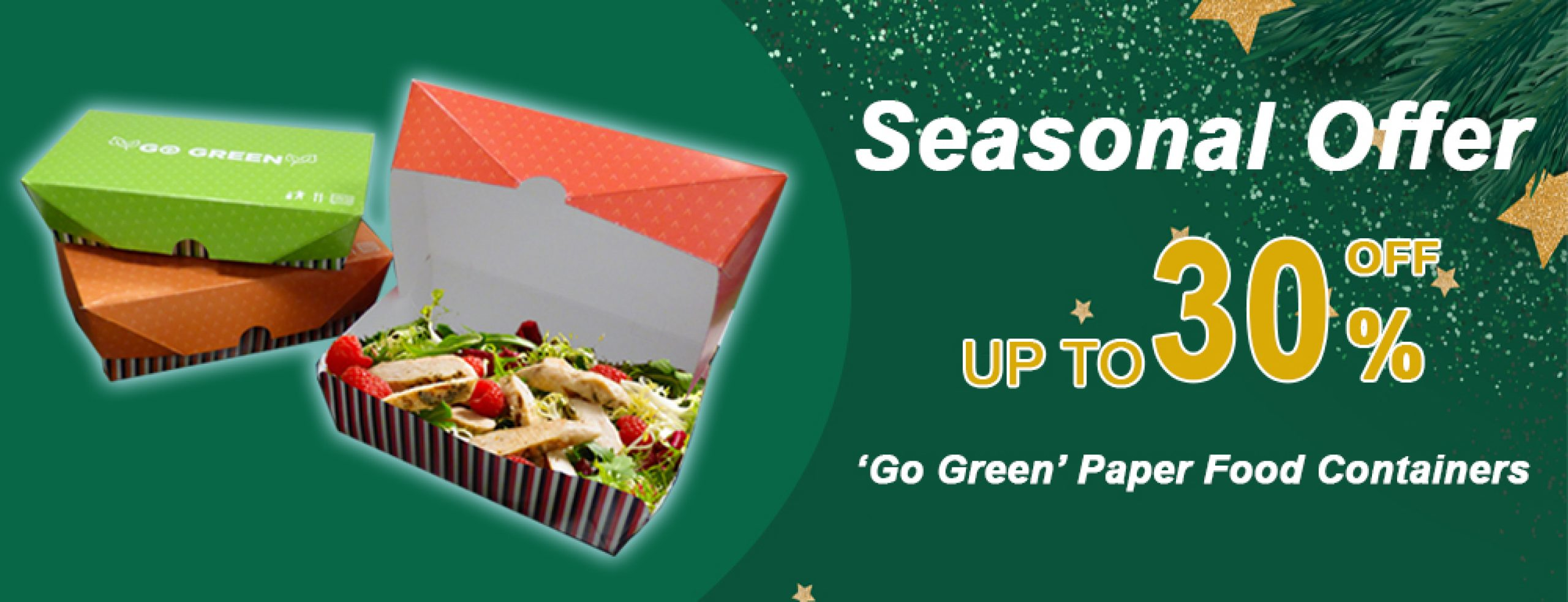 go green seasonal offer banner
